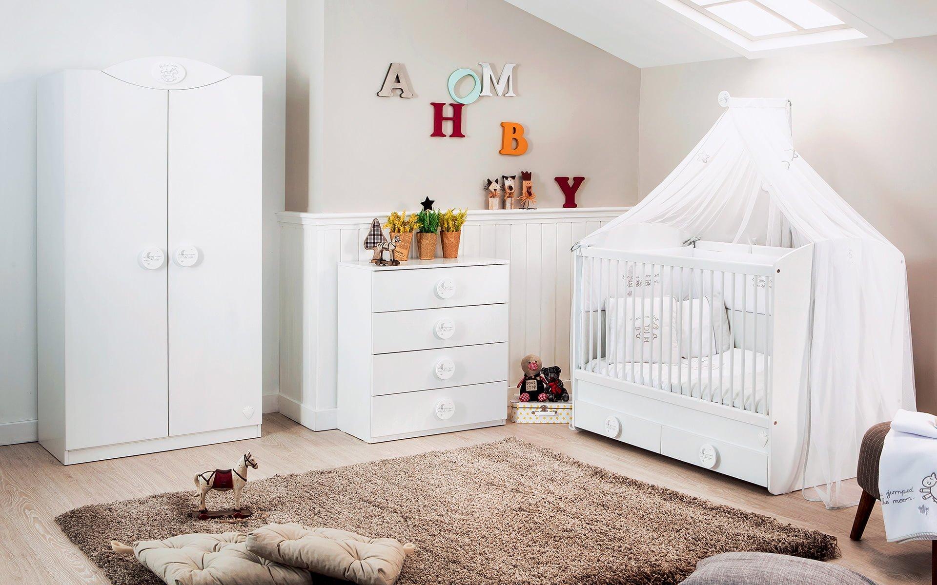 cilek-mobilya-Baby Cotton-beyaz-bebek-odasi