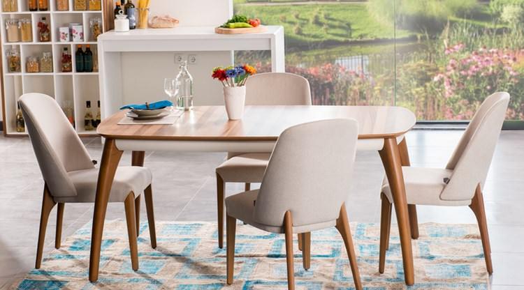 mutfak ahşap masa sandalye