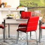Alfemo mobilya yeni mutfak masa sandalye takımları 3