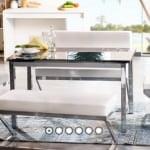 Alfemo mobilya yeni mutfak masa sandalye takımları 7