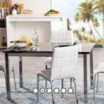 Alfemo mobilya yeni mutfak masa sandalye takımları 8