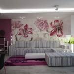 Interior Room interior in flowers