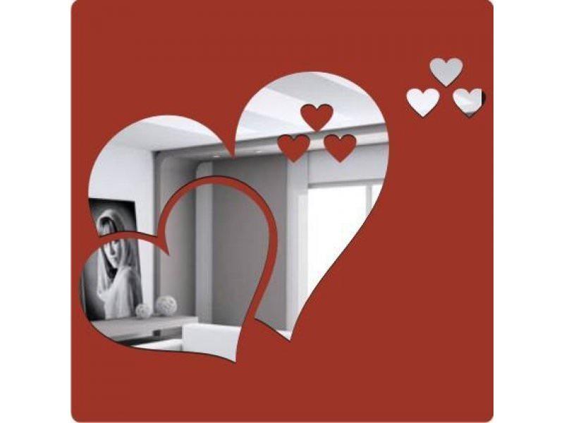 kalp şekline duvar süs aynaları