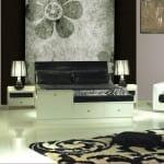 krem siyah yatak oıdası Rapsodi mobilya modern yatak odası takımları