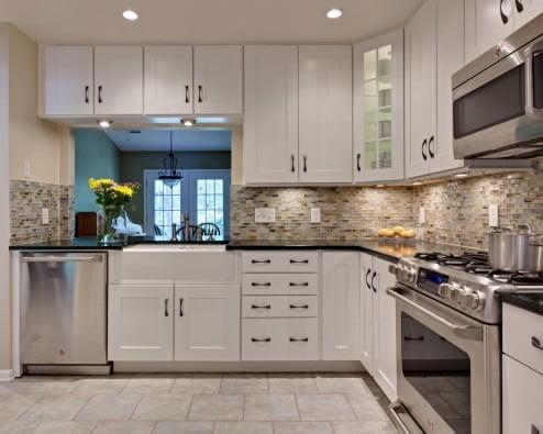 Yeni tasarım lüks mutfak dolap modelleri 2