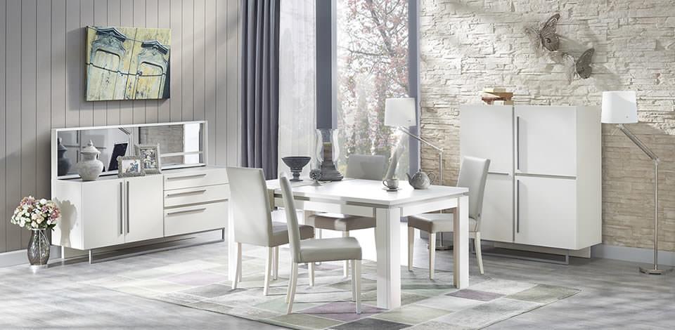doğtaş beyaz yemek odası modelleri