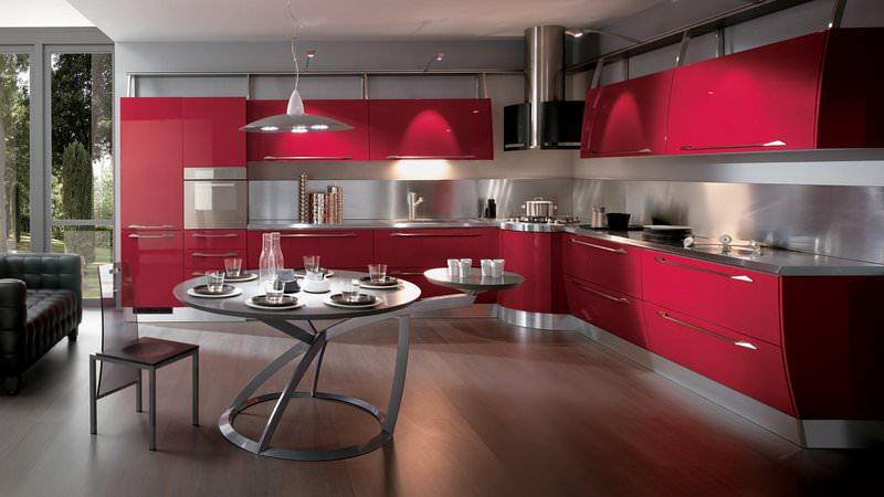 Yeni tasarım lüks mutfak dolap modelleri 3