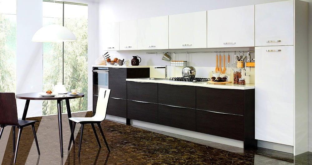 kelebek siyah mutfak dolapları