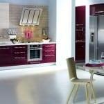 mürdüm rengi mutfak tasarımları