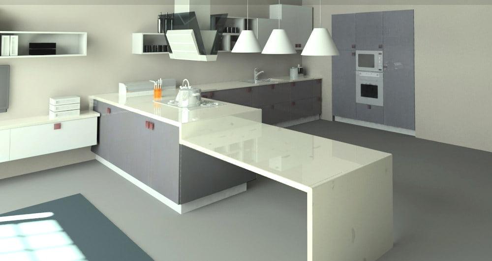 beyaz gri mutfak dolapları