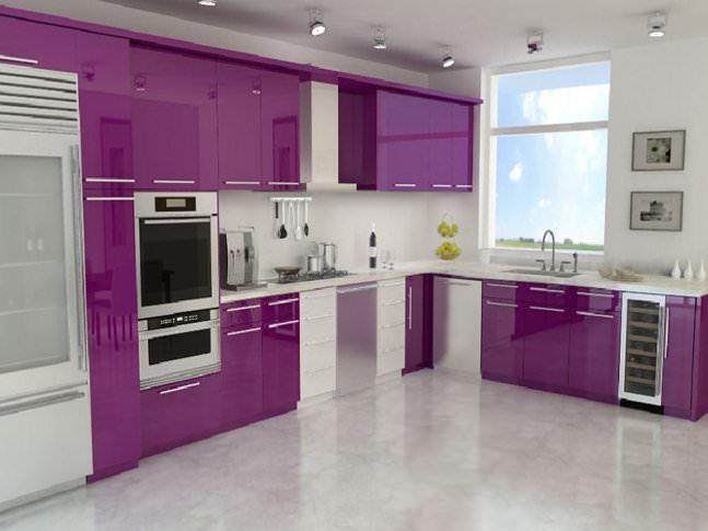 Yeni tasarım lüks mutfak dolap modelleri 5