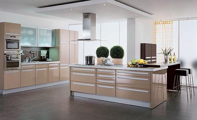 Yeni tasarım lüks mutfak dolap modelleri 7