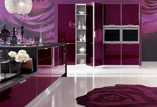 Yeni tasarım lüks mutfak dolap modelleri 8