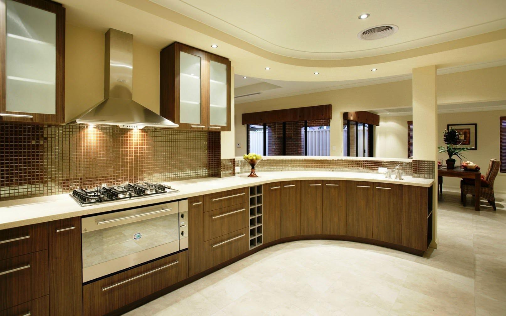Yeni tasarım lüks mutfak dolap modelleri 9