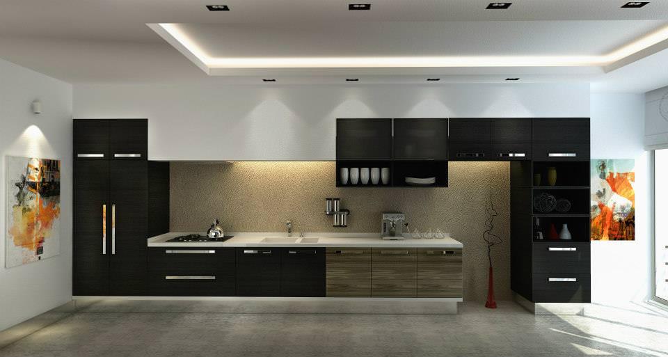 Yeni tasarım lüks mutfak dolap modelleri 11