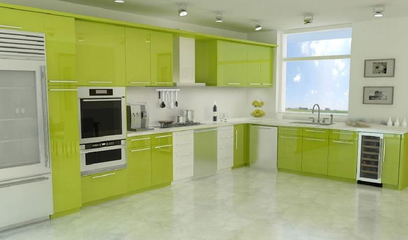 Yeni tasarım lüks mutfak dolap modelleri 13