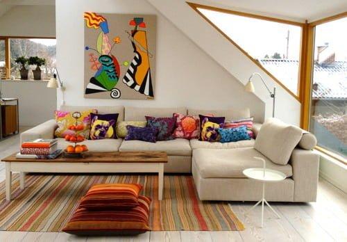 Canlı renk kombinleri ile dekorasyon fikirleri 43