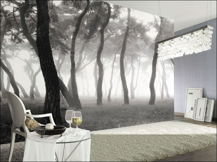 Dekoratif dijital baskılı duvar manzara modelleri 4
