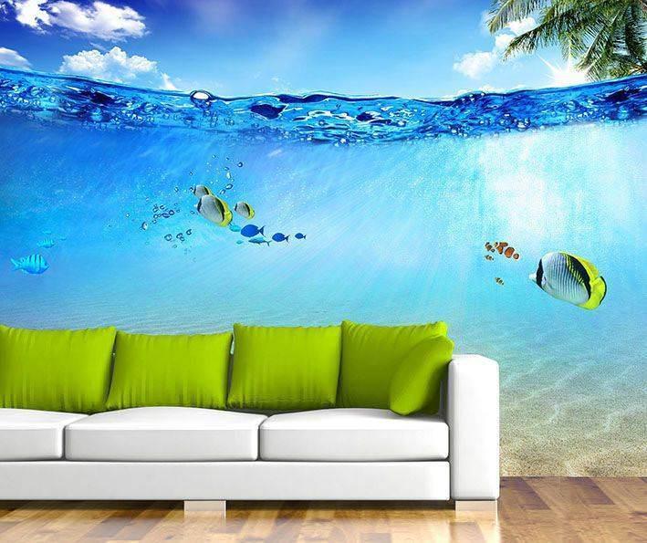 Dekoratif dijital baskılı duvar manzara modelleri 6