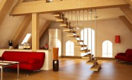 Dubleks daire ve çatı katı dekorasyon fikirleri