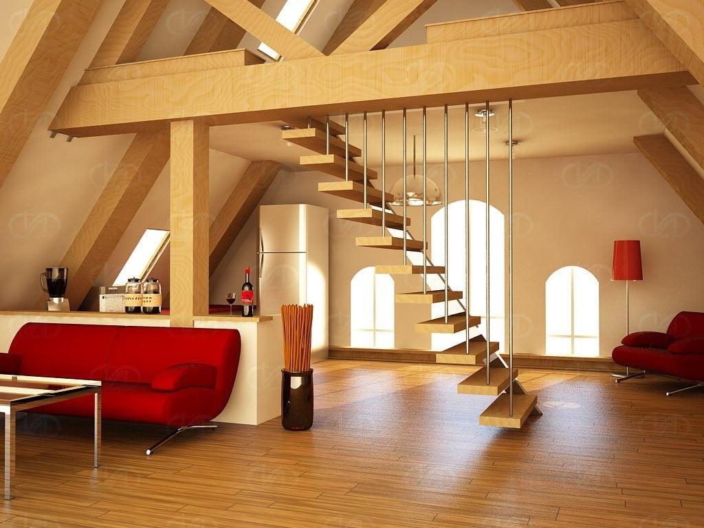 Dubleks daire ve çatı katı dekorasyon fikirleri 12