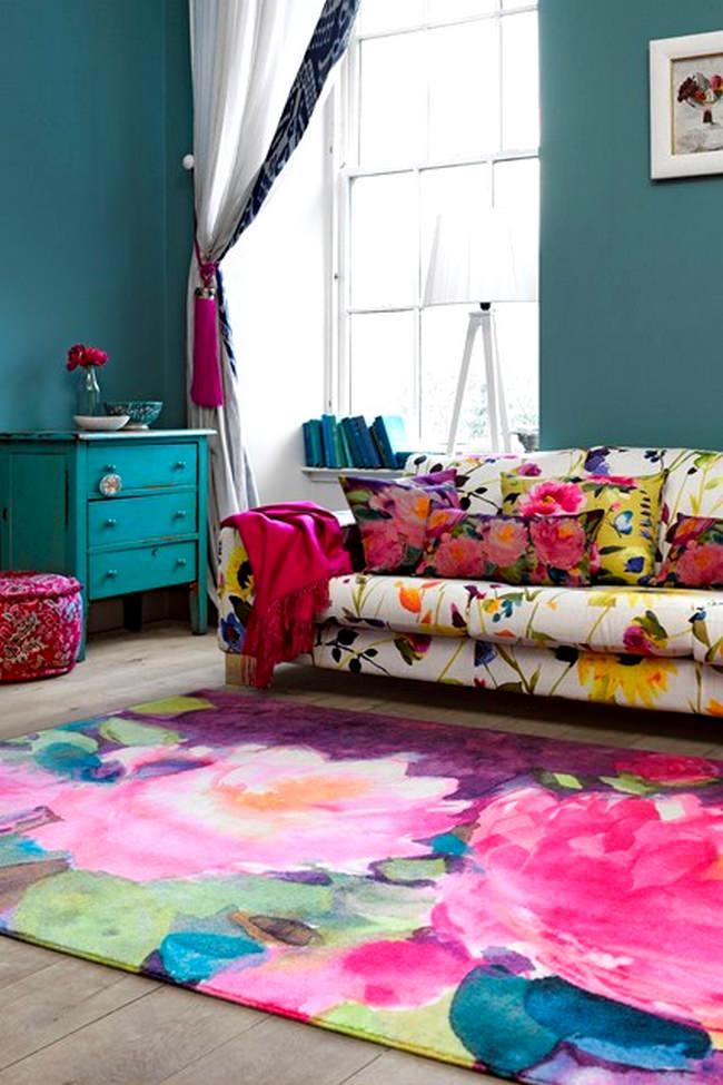 turkuaz renk kombinleri ile dekorasyon