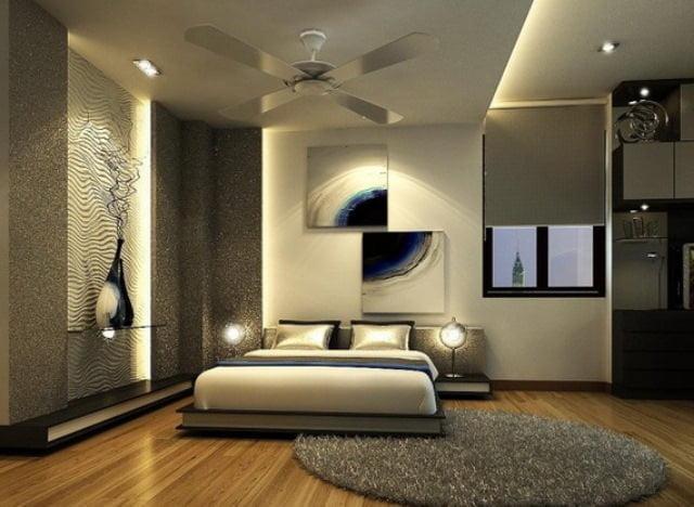 Yatak odası zemin dekorasyon fikirleri 29