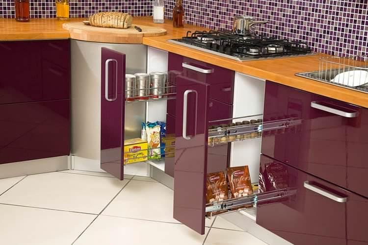 lila mutfak tasarımı