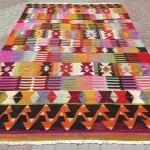 Dekoratif motifli el dokuması kilim modelleri 15
