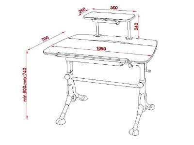3421-48 İstikbal mobilya fonksiyonel ders çalışma masası