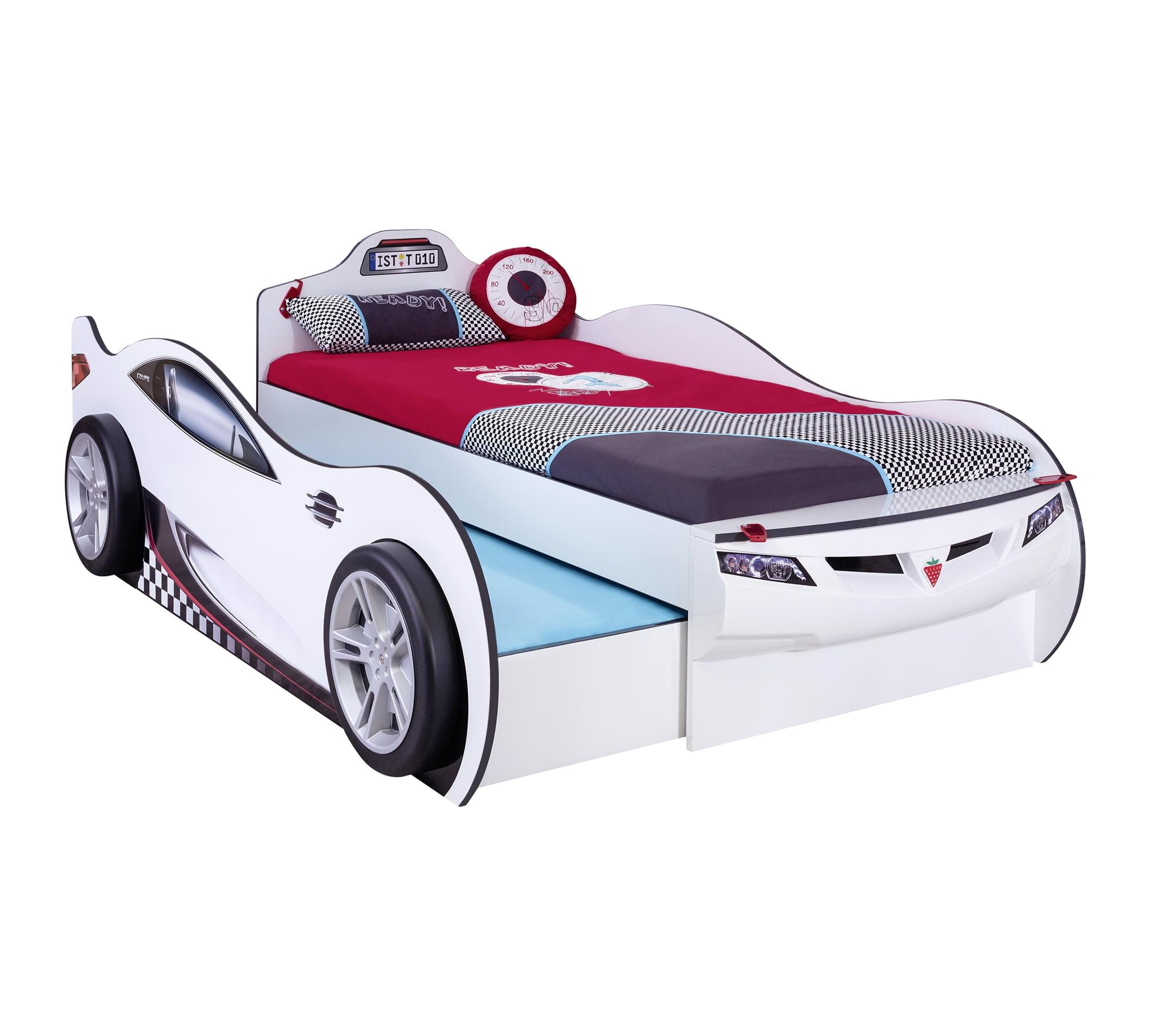 cilek-mobilya-coupe-araba-karyola-beyaz Çilek mobilya araba karyola modelleri