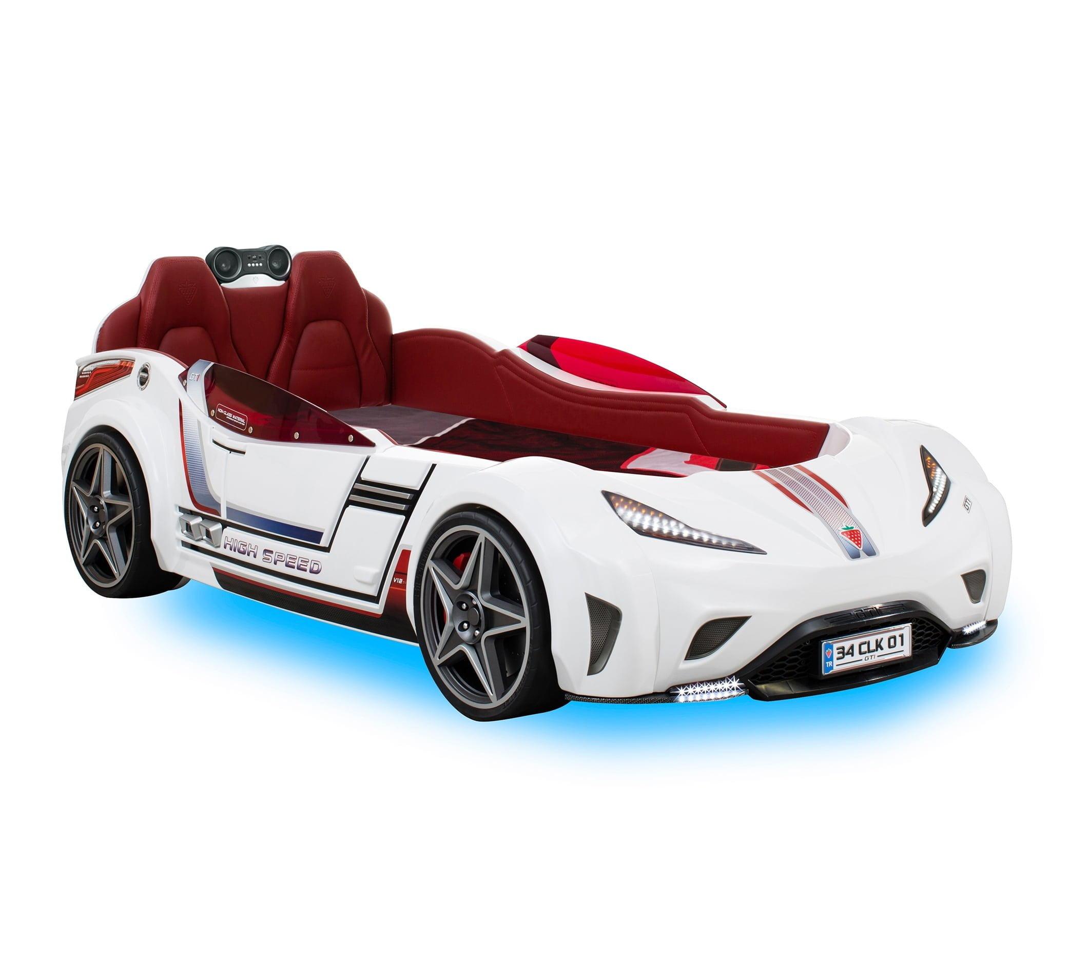 cilek-mobilya-gti-araba-karyola-beyaz Çilek mobilya araba karyola modelleri
