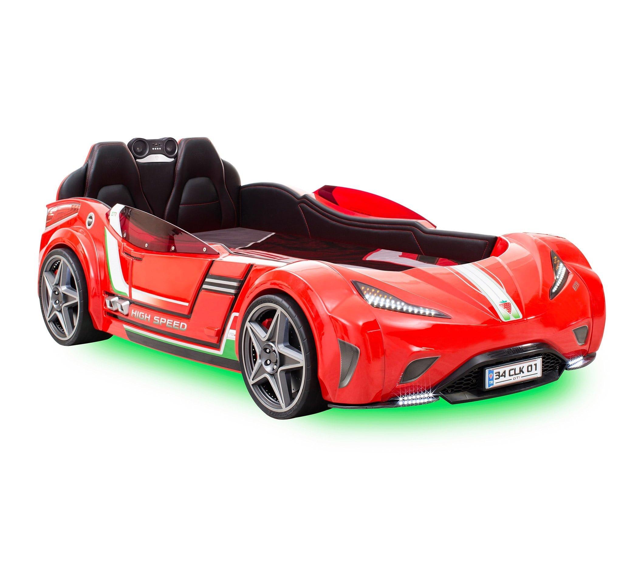 cilek-mobilya-gti-araba-karyola-kirmizi Çilek mobilya araba karyola modelleri