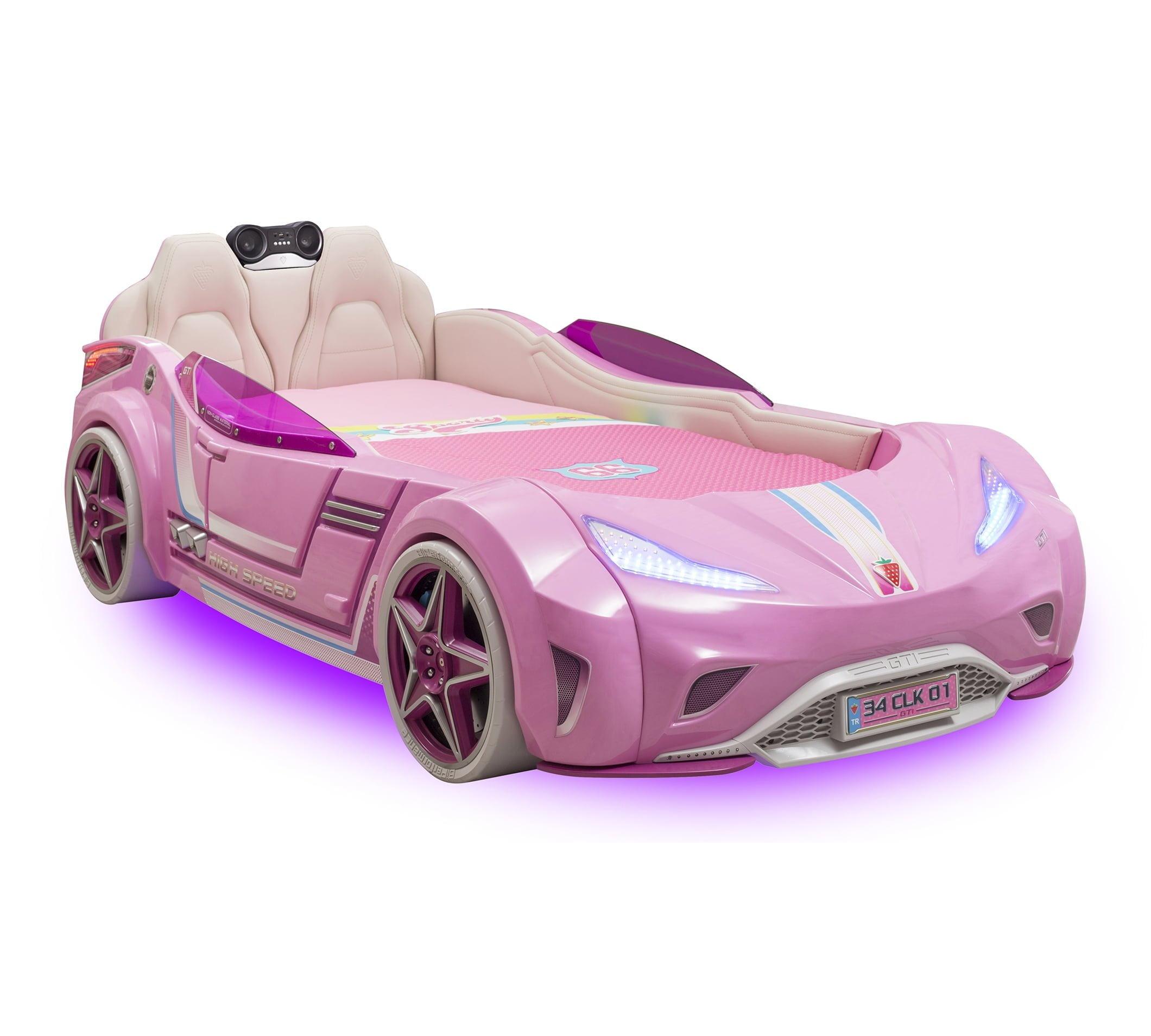 cilek-mobilya-gti-araba-karyola-pembe Çilek mobilya araba karyola modelleri