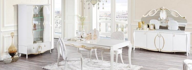 alfemo beyaz yemek odası