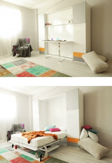 diva-double-table-cift-kisilik-katlanir-yatak Gaysan fonksiyonel çift kişilik yatak modelleri
