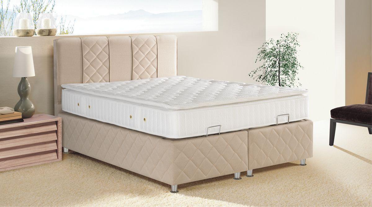 modern yatak başı resimleri Ladin mobilya baza ve başlık modelleri