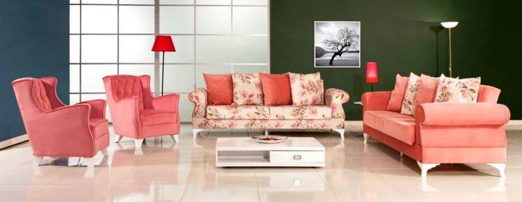 modalife çiçekli koltuk modelleri