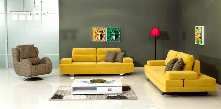modalife sarı koltuk