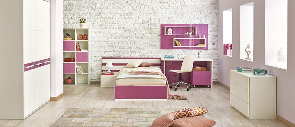 kelebek-mobilya-ikorro-lila-genc-odasi Kelebek Mobilya Genç Odası Tasarımları