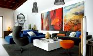 Oturma odası duvar tablo dekorasyonları