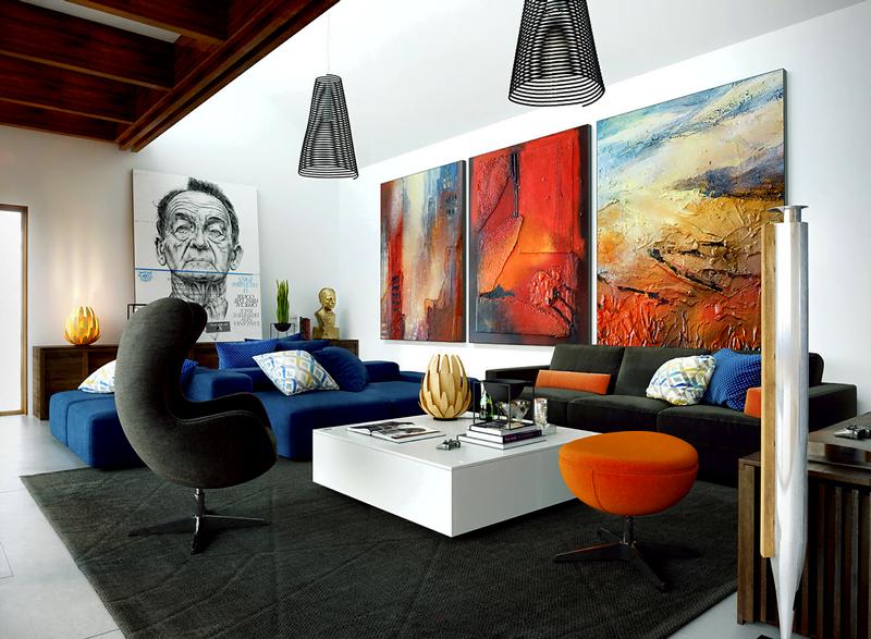 Oturma odası duvar tablo dekorasyonları 1