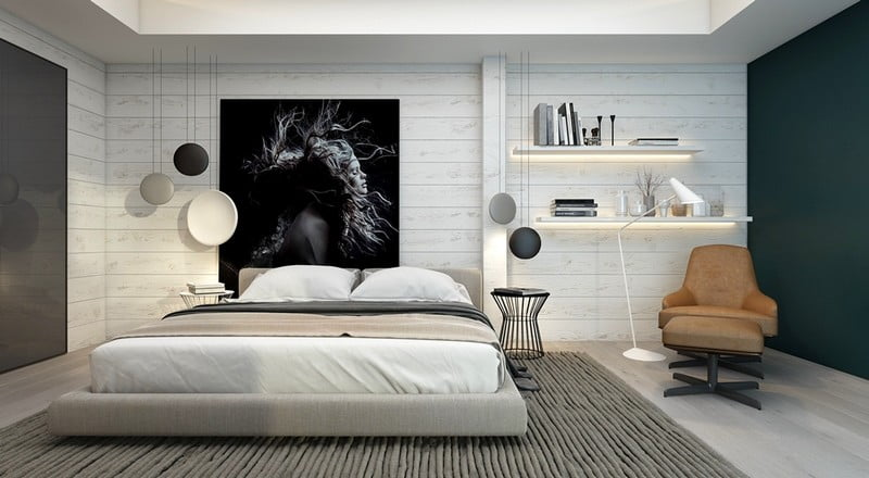 yatak odasi duvar dekorasyon modelleri 1