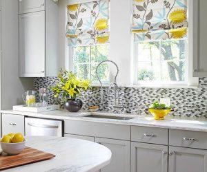 Yeni tasarım mutfak perde modelleri
