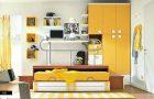 Renkli yeni tasarım genç odası modelleri