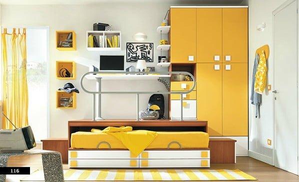 Renkli yeni tasarım genç odası modelleri 32