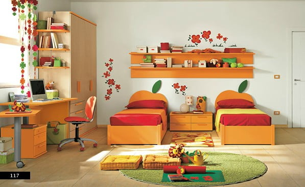 turuncu-genc-odasi-dekorasyonu