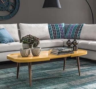 dekoratif sehpa enza mobilya ahşap yan ve orta sehpa modelleri