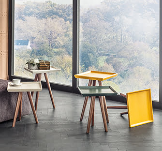 dekoratif renkli çay sehpaları enza mobilya ahşap yan ve orta sehpa modelleri