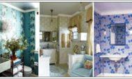 Banyo Duvar Kağıt Desenleri Ve Renkleri